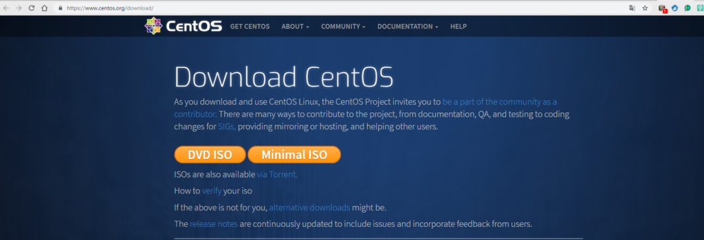 download centos