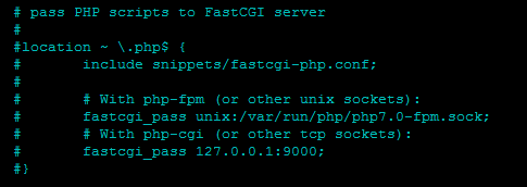 включение php nginx