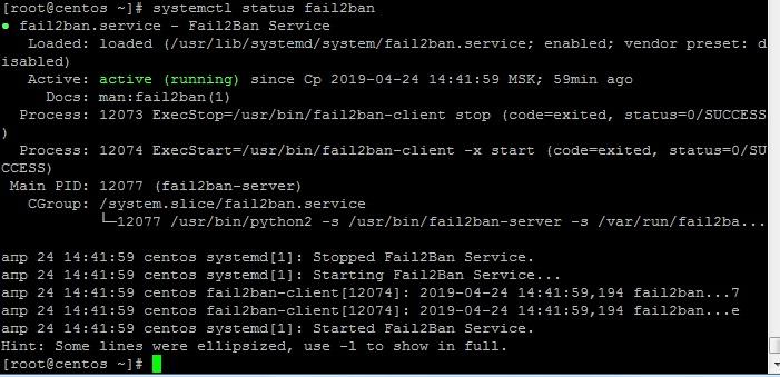 systemctl status fail2ban
